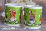 "Tasse ""Frohe Ostern Hasen"" Farbwahl"